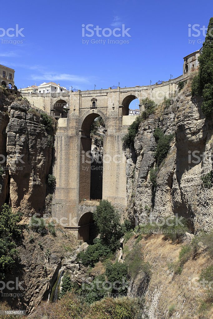 Puente Nuevo in Ronda, Andalusia Spain royalty-free stock photo
