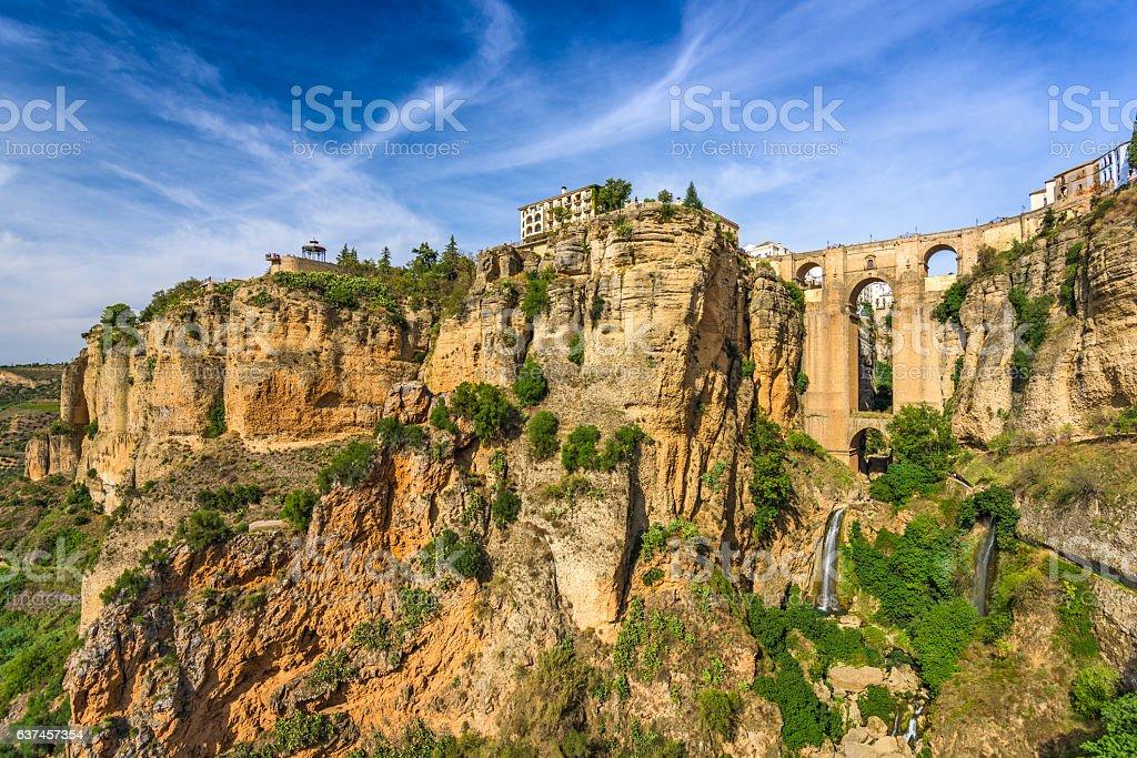 Puente Nuevo in Ronda Spain stock photo