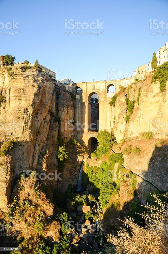 Puente Nuevo in the Evening, Ronda (Spain) stock photo