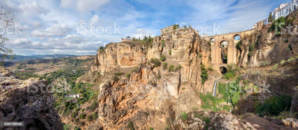 Puente Nuevo over the Tajo Gorge in Ronda. Andalusia, Spain stock photo