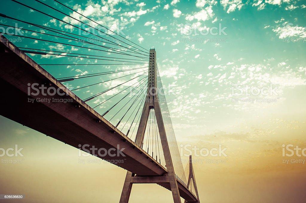 Puente sobre el río Guadiana stock photo