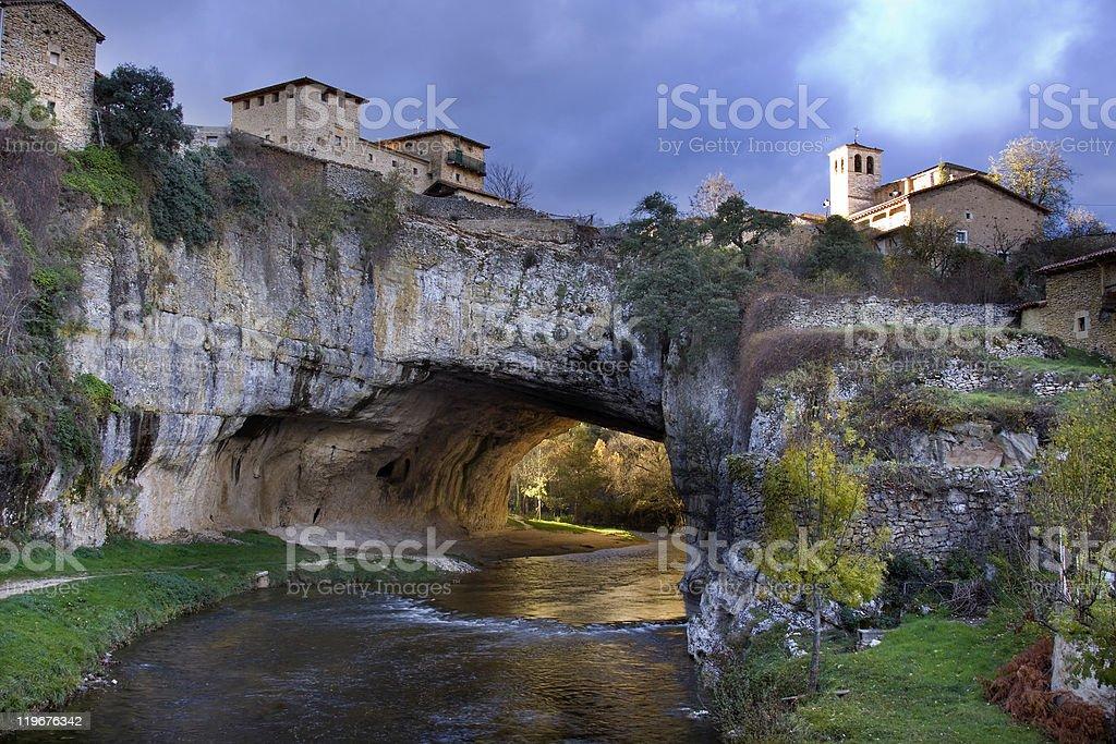 Puentedey village stock photo