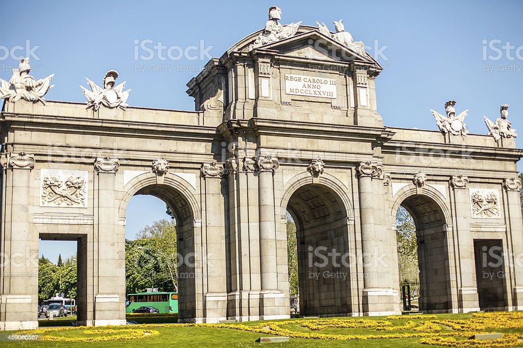 Puerta de Alcal? Madrid stock photo
