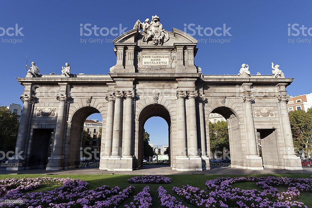 Puerta de Alcalá stock photo
