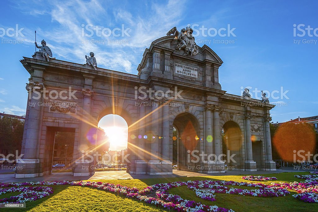 Puerta de Alcala located at Madrid stock photo