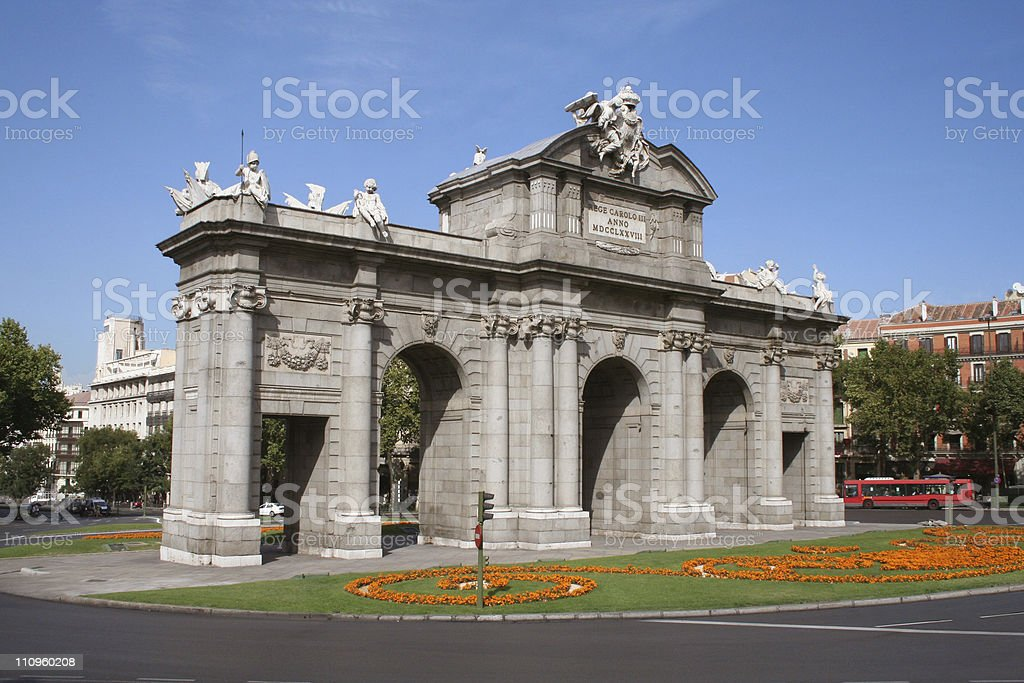 Puerta de Alcala. Madrid, Spain. stock photo