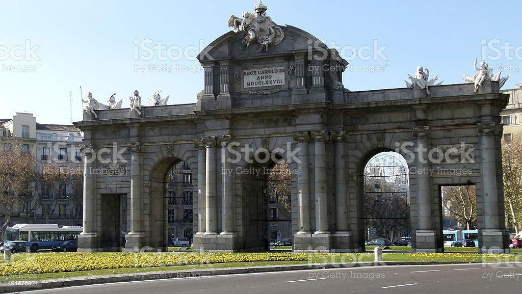 Puerta de Alcala. Madrid, Spain stock photo