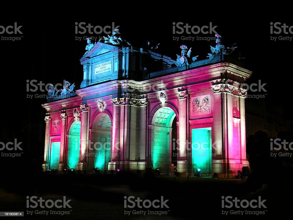 Puerta de Alcala (Full View) - Madrid - Special Event royalty-free stock photo