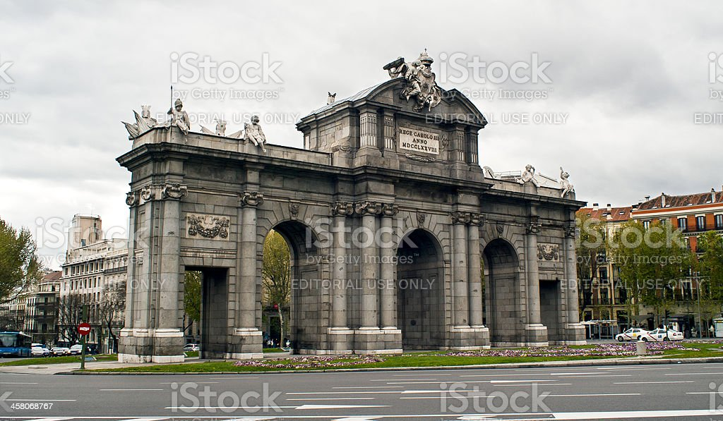 Puerta de Alcala royalty-free stock photo