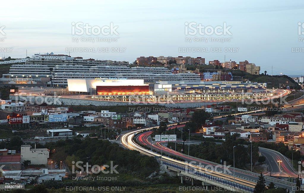 Puerta de Europa, Algeciras Spain stock photo