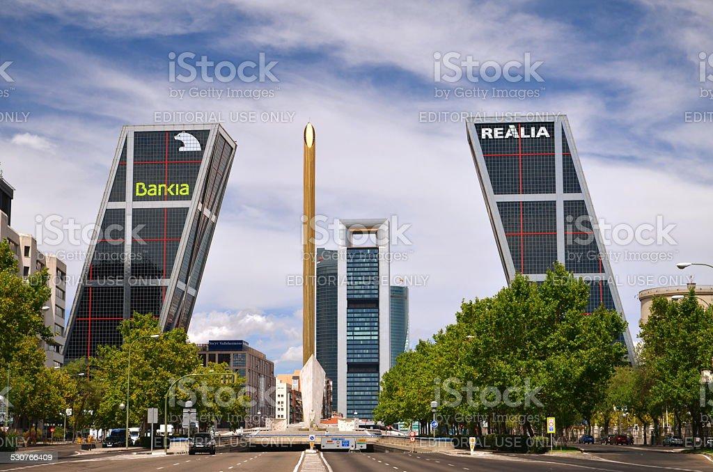 Puerta de Europa Madrid, Spain stock photo