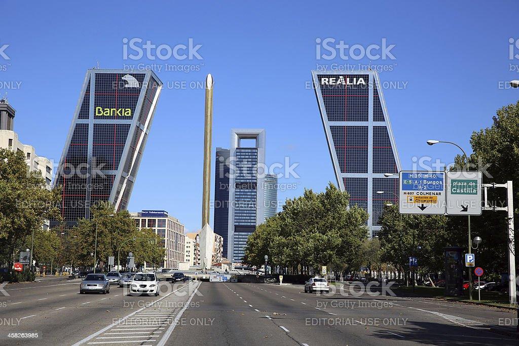 Puerta de Europa stock photo