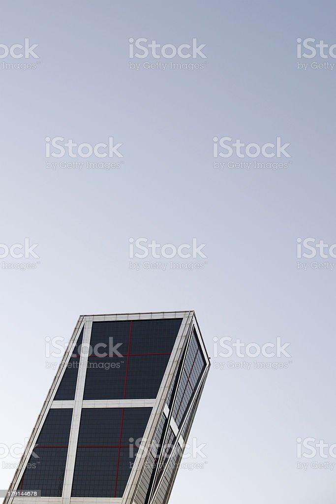 Puerta de Europa skyscraper in Madrid stock photo