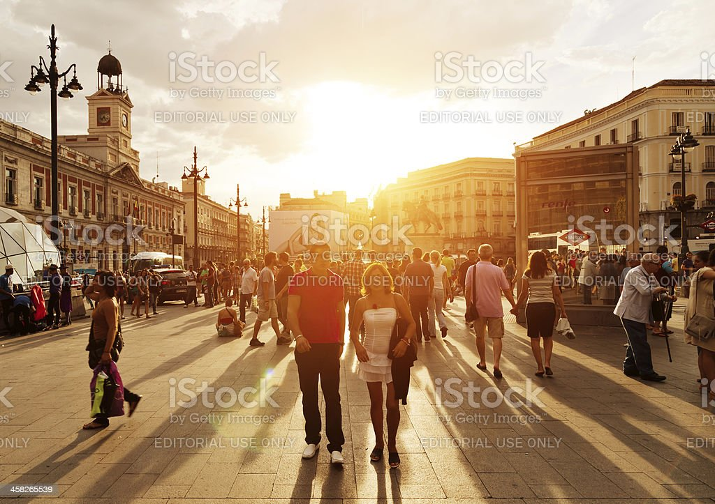 Puerta del Sol, Madrid stock photo