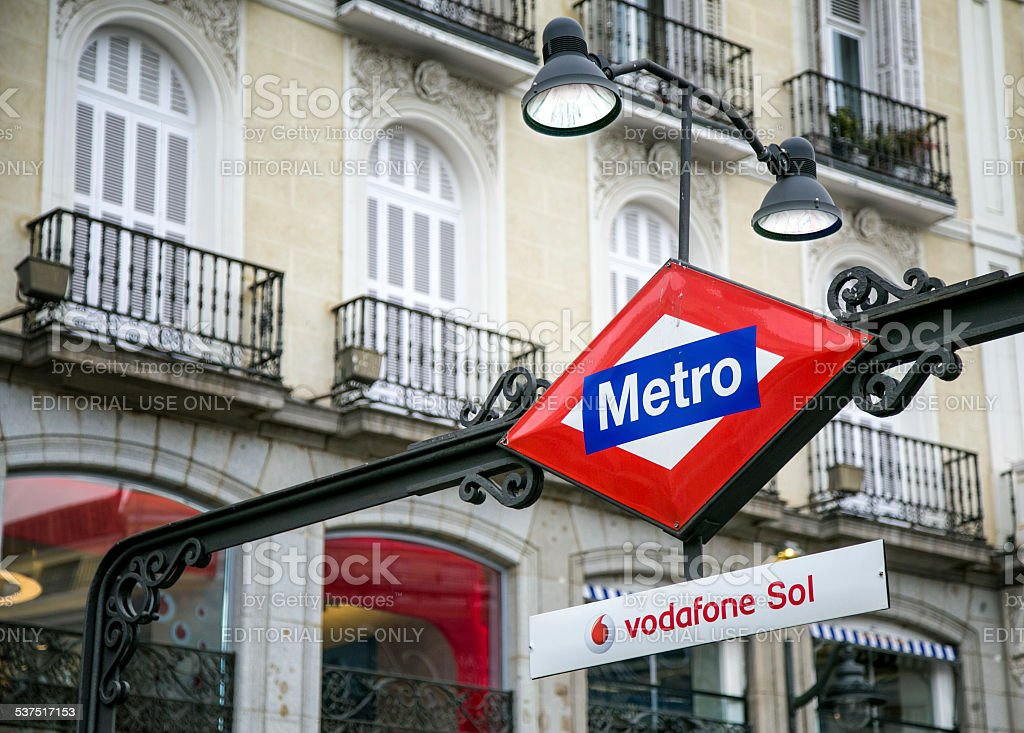 Puerta del Sol Metro stock photo