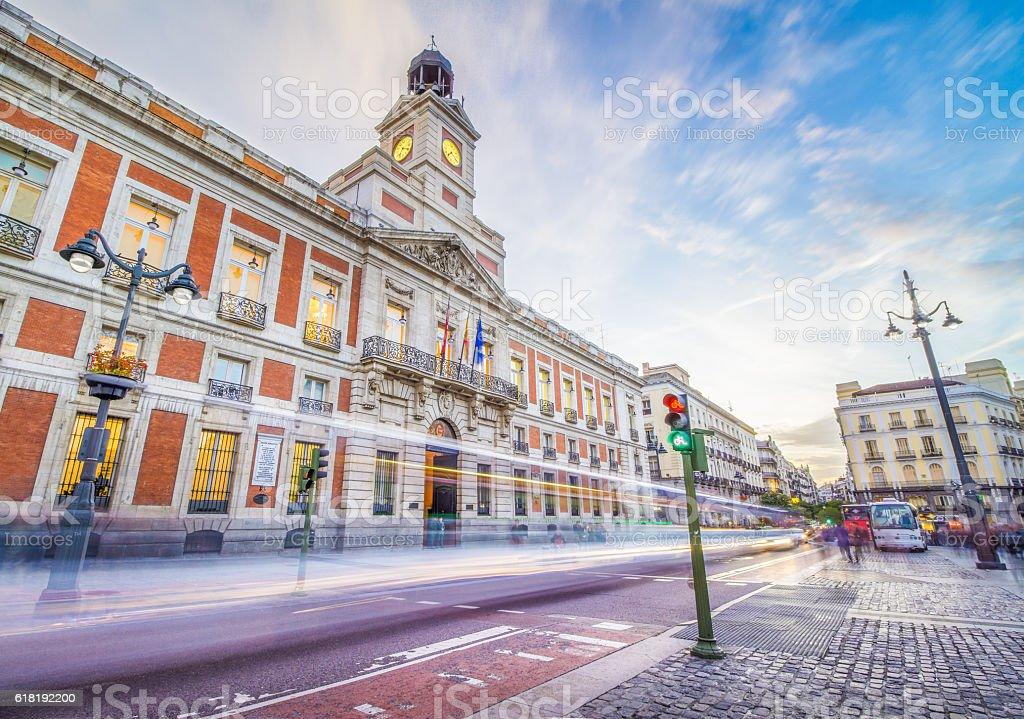 Puerta del Sol Square stock photo
