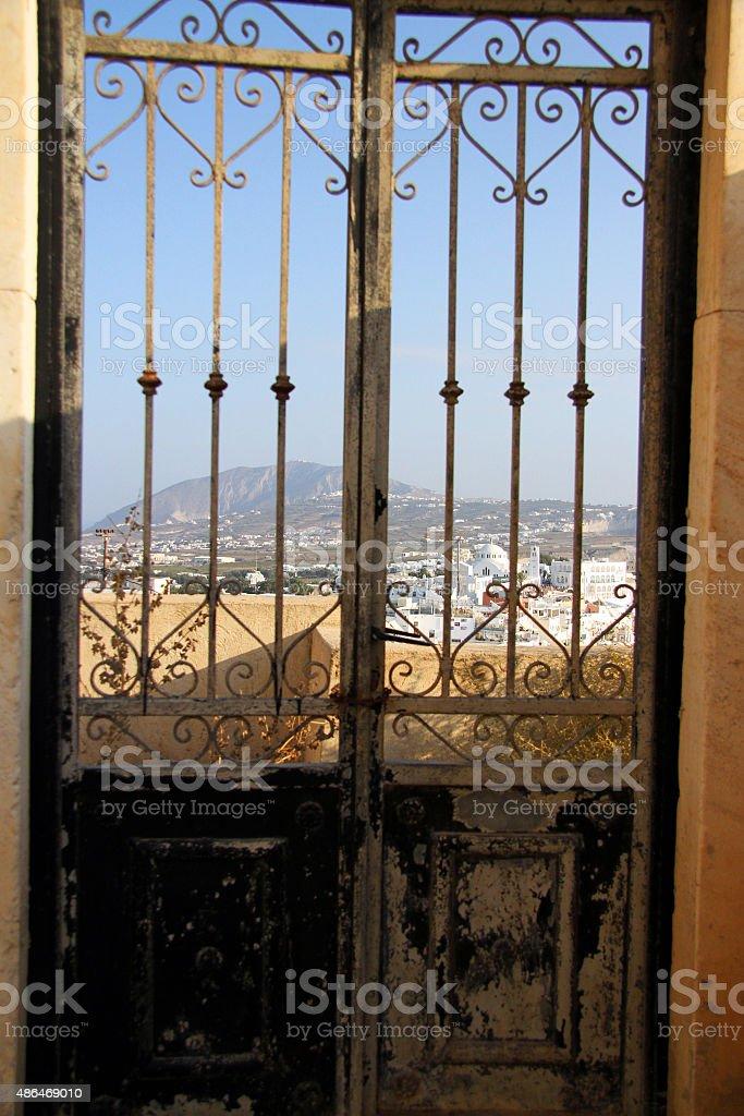 Puerta santorini zbiór zdjęć royalty-free