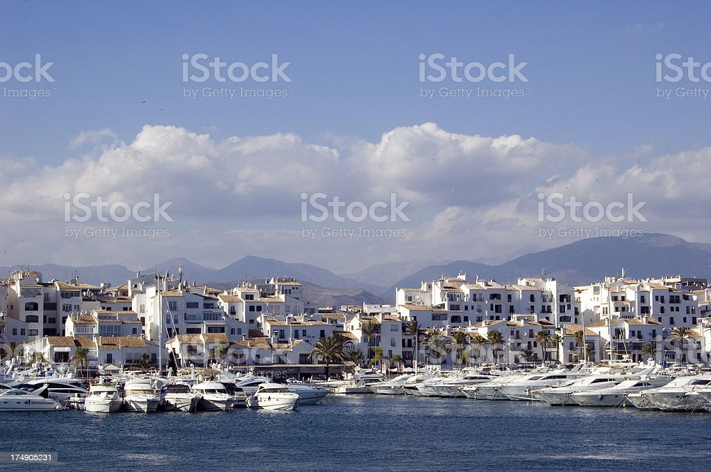 Puerto Banus Harbour and Marina in Spain royalty-free stock photo