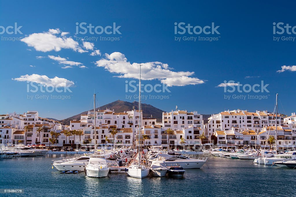 Puerto Banus harbour in Andalusia, Spain stock photo