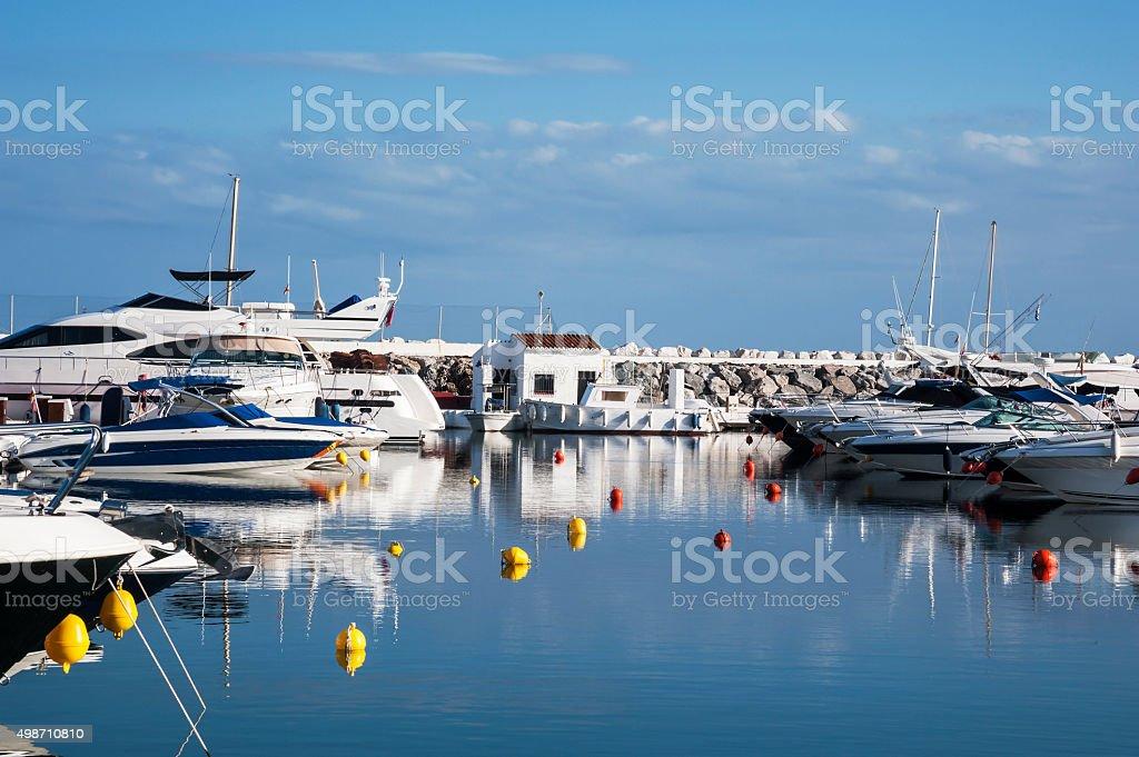 Puerto Banus harbour in Marbella, Spain stock photo