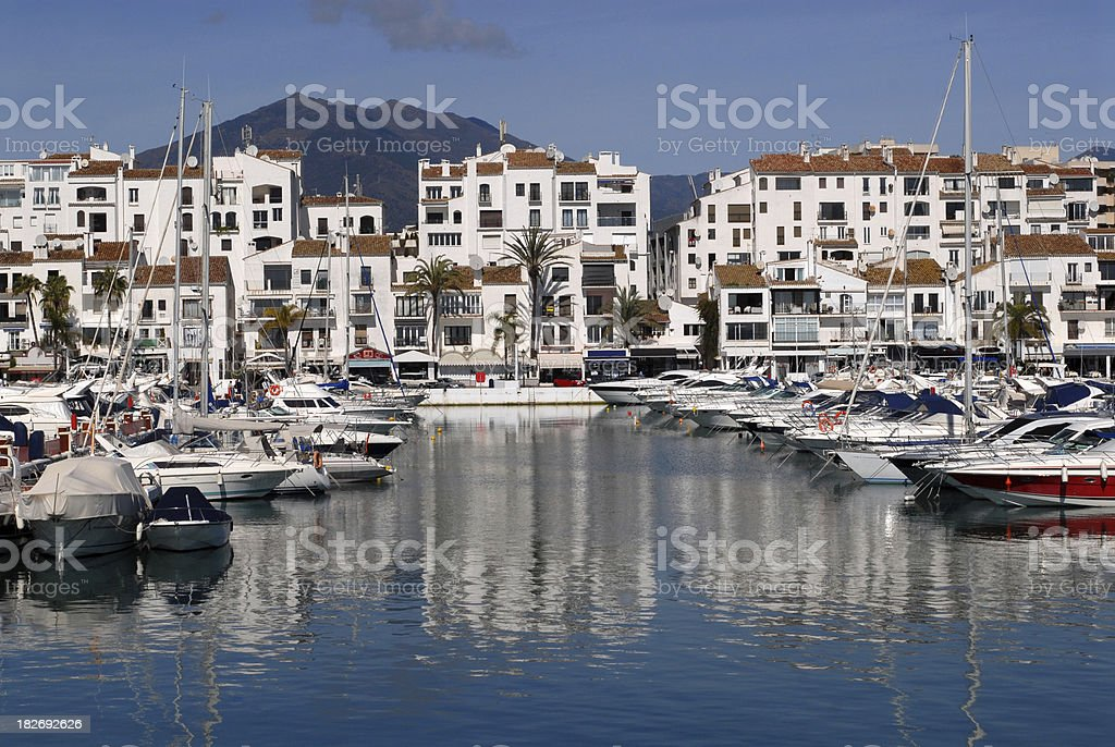 Puerto Banus harbour. stock photo