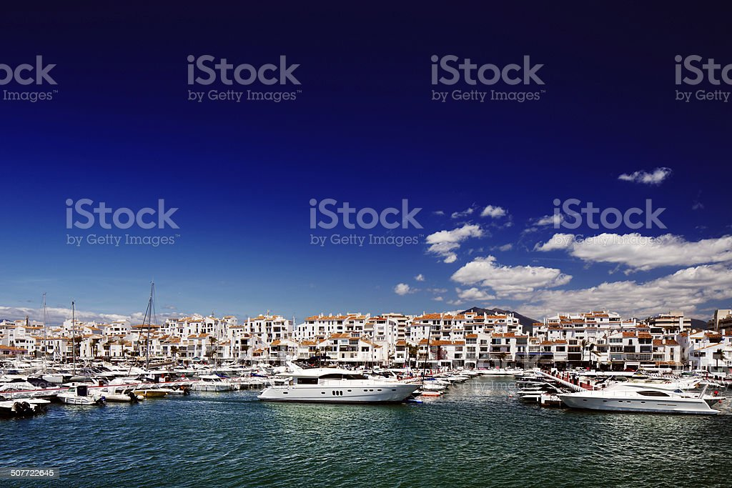 Puerto Banus marina in Marbella, Spain stock photo