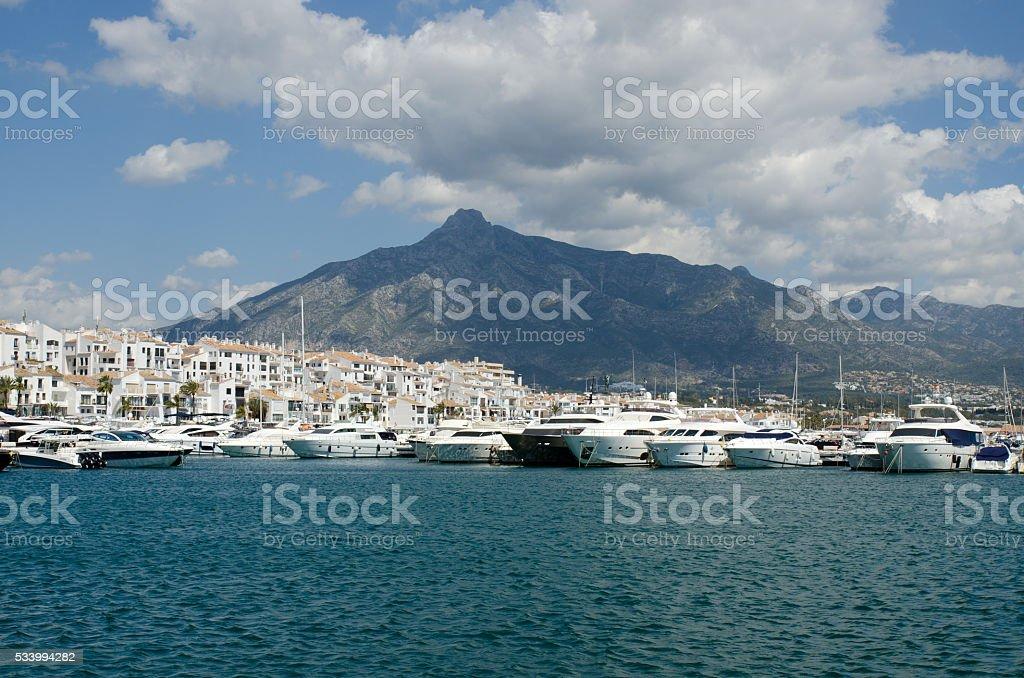 Puerto Banus marina in Marbella, Spain stock photo