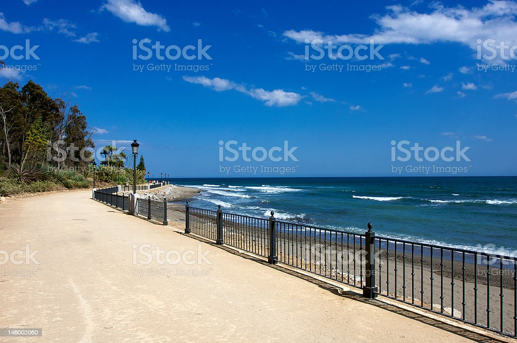 Puerto Banus to Marbella stock photo