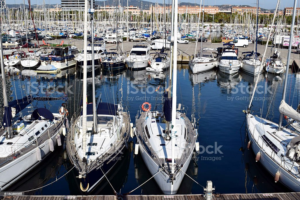 Puerto, barcos, amarres, Navegar, playas, stock photo