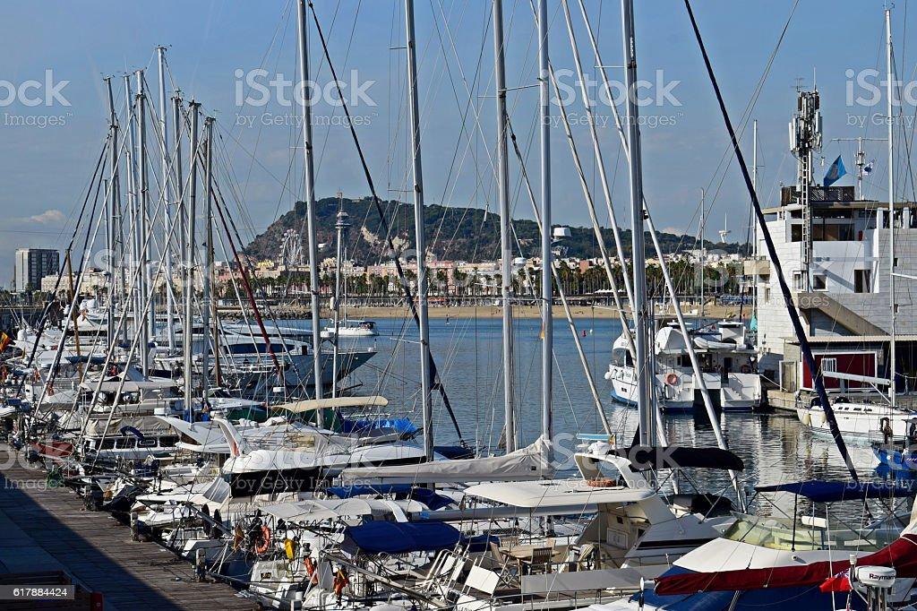 Puerto, barcos, amarres, Navegar, playas, Vacaciones, stock photo