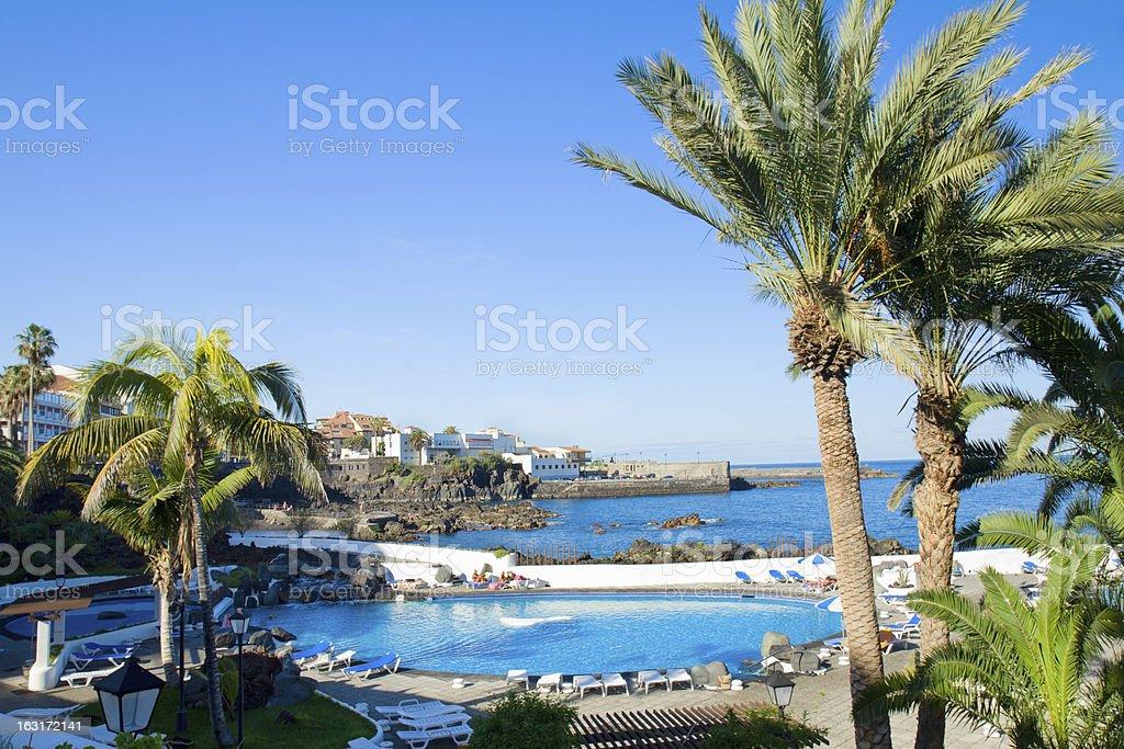Puerto de la Cruz, Tenerife stock photo