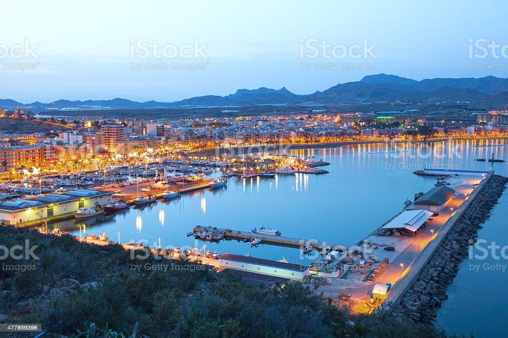 Puerto de Mazarron, Spain stock photo