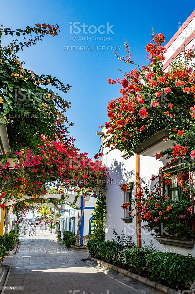Puerto de Mogan, a beautiful, romantic town on Gran Canaria stock photo