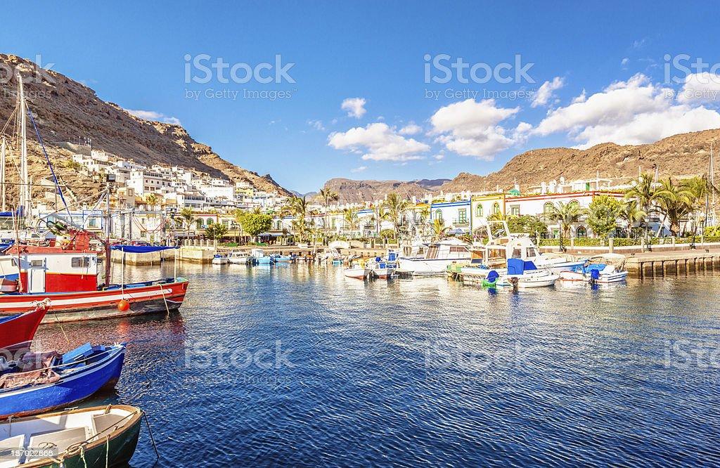 Puerto de Mogan - Gran Canaria stock photo