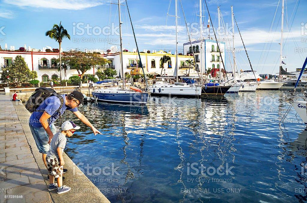 Puerto de Mogan, Spain – January 17, 2016: Marina, resort. stock photo