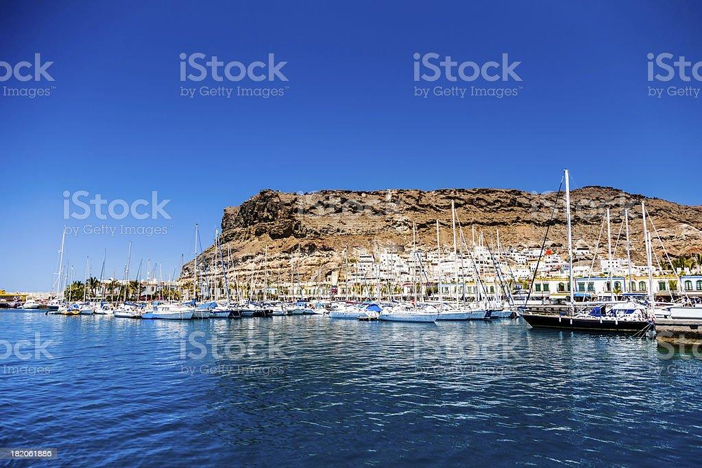 Puerto de Mogan Yacht Harbor,Grand Canary stock photo