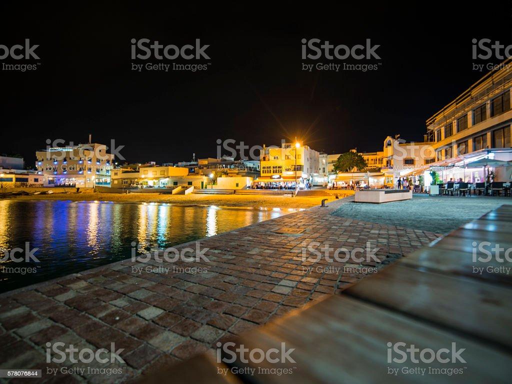 Puerto de noche stock photo