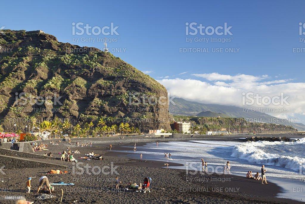Puerto De Tazacorte Beach, La Palma stock photo