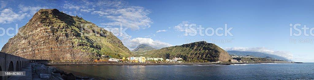 Puerto De Tazacorte Panorama, La Palma stock photo