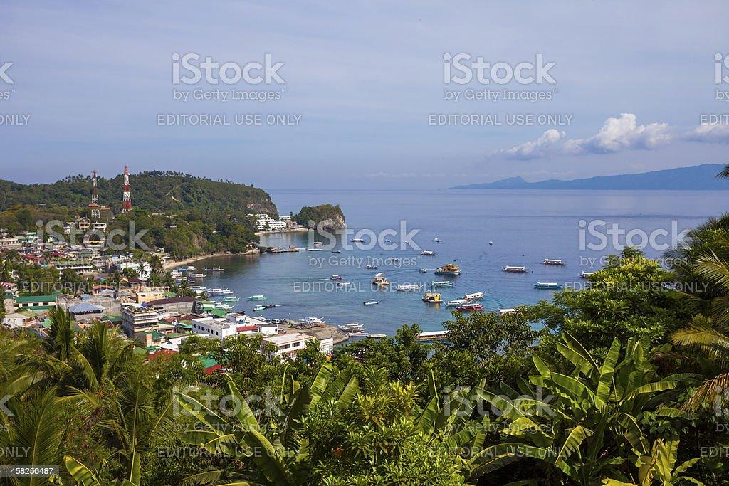 Puerto Galera view over Sabang, Philippines royalty-free stock photo
