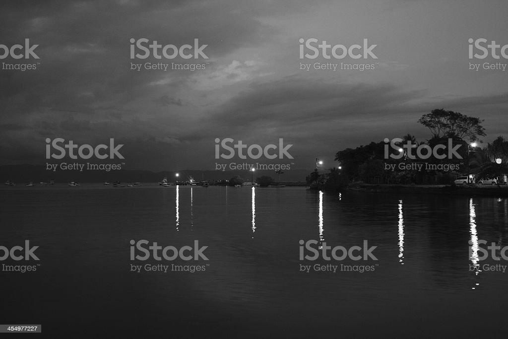 Puerto Jimenez Pier, Costa Rica stock photo