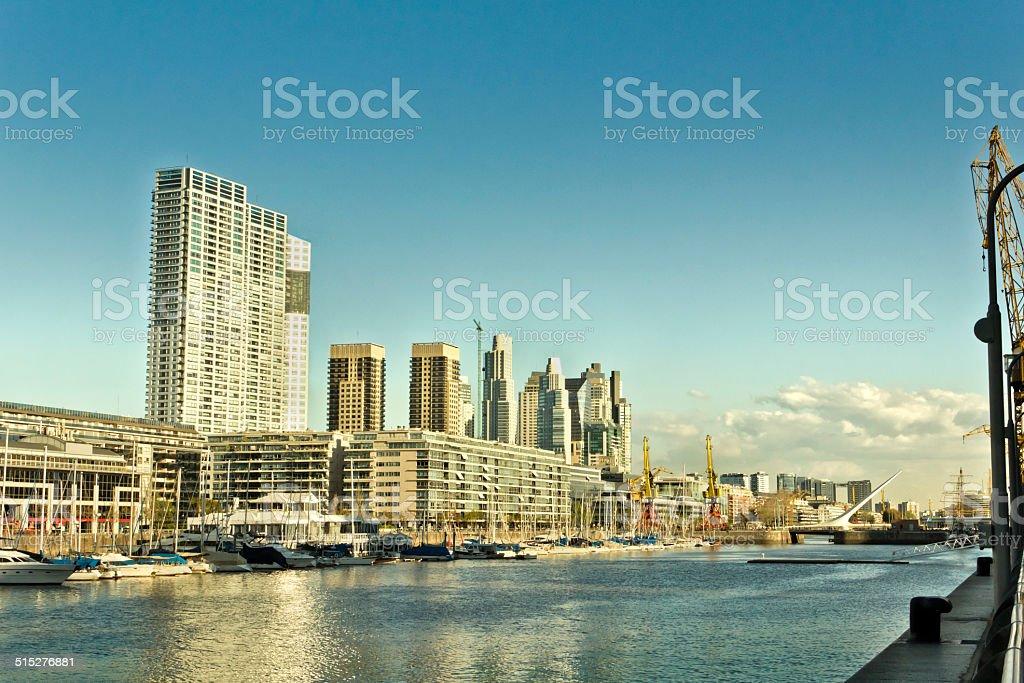 Puerto Madero, Buenos Aires, Argentina. stock photo