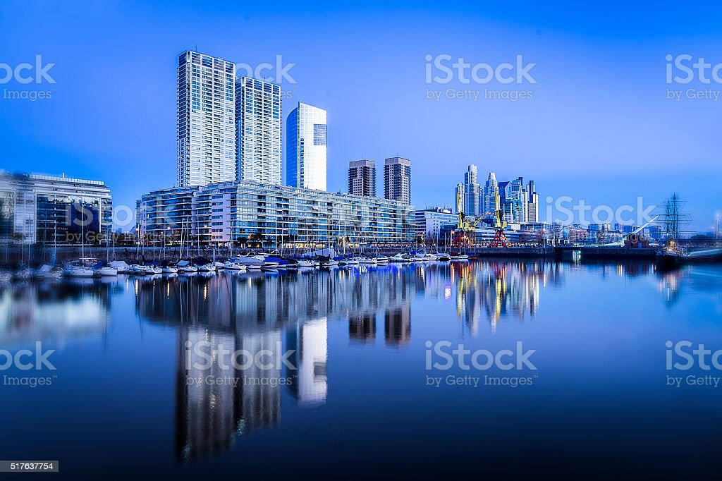 Puerto Madero commercial district of Buenos Aires, Argentina. stock photo