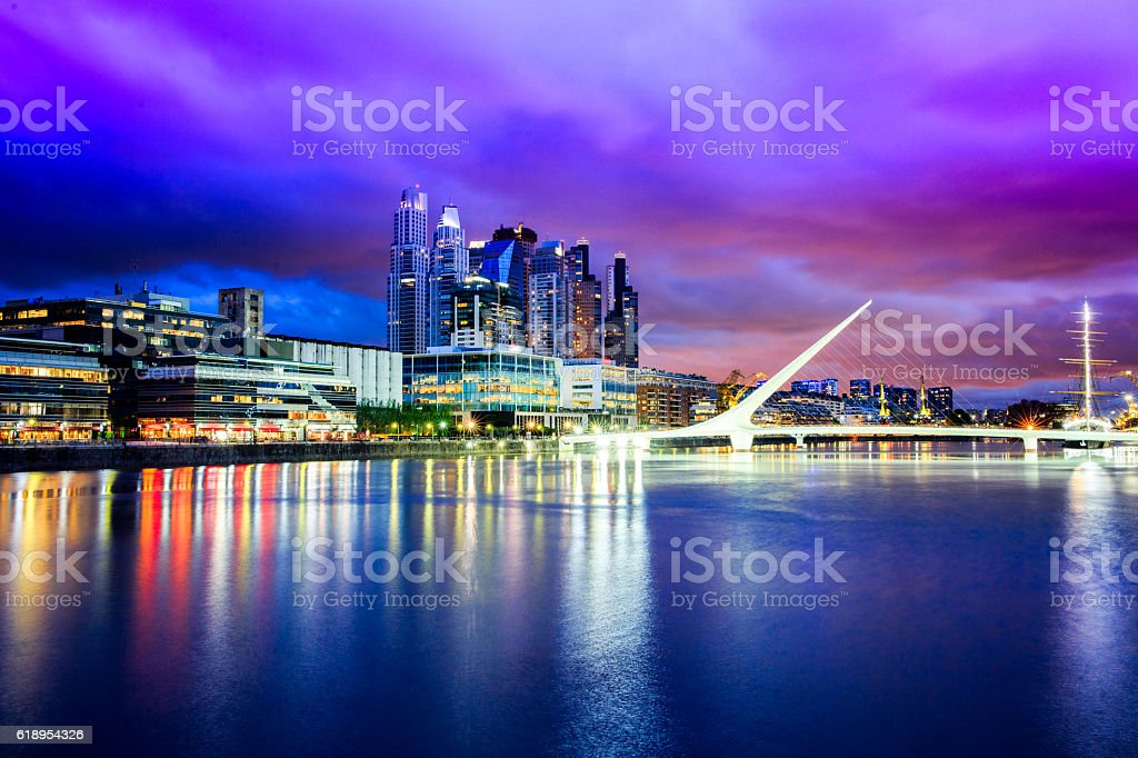 Buenos Aires Financial District stock photo