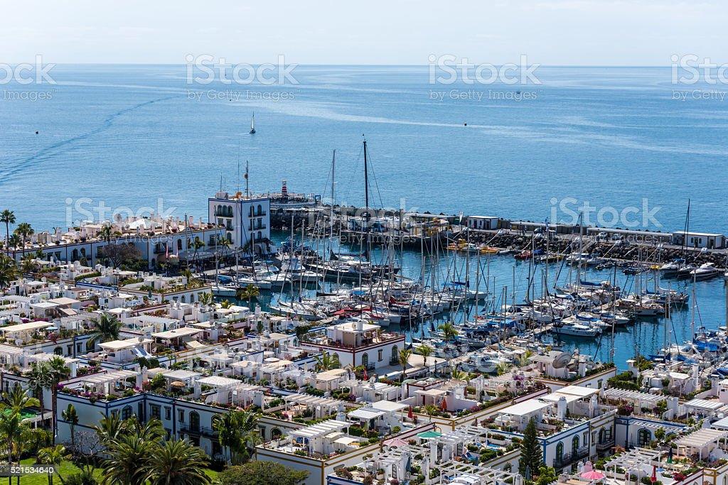 Puerto Mogan on island Gran Canaria - Spain stock photo
