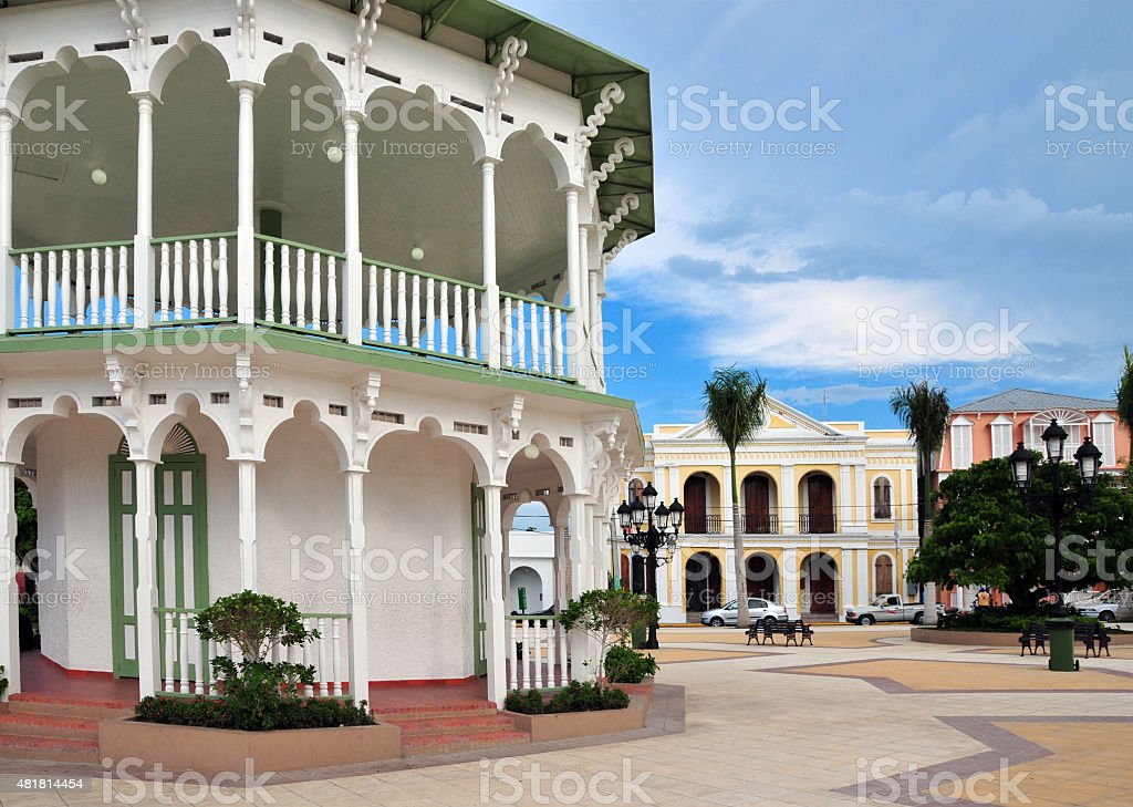 Puerto Plata, Dominican republic: bandstand in the central park stock photo
