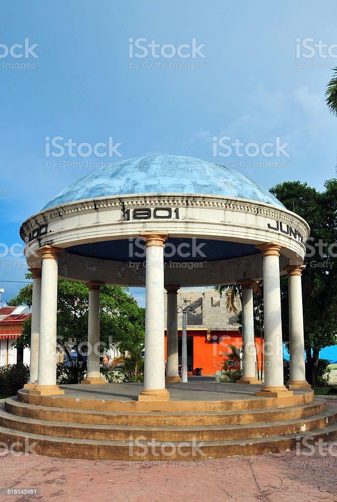 Puerto Plata, Dominican republic: garden pavilion stock photo