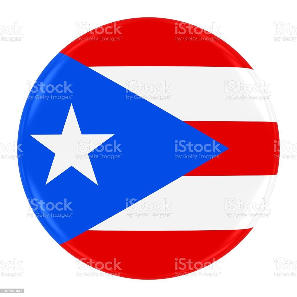 Puerto Rican Flag Badge stock photo