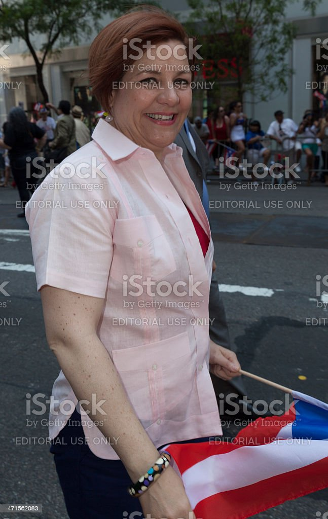 Puerto Rican parade royalty-free stock photo