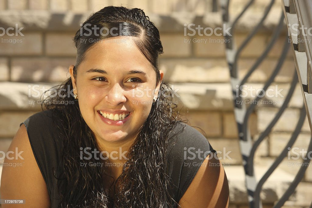 Puerto Rican Teenage Girl royalty-free stock photo